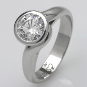 Handmade ladies platinum 1.03ct 'Asteios' diamond engagement ring