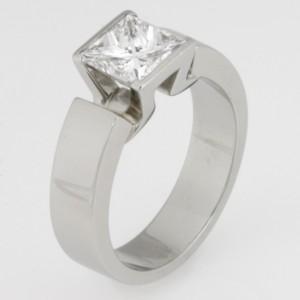 Handmade ladies platinum diamond engagement ring