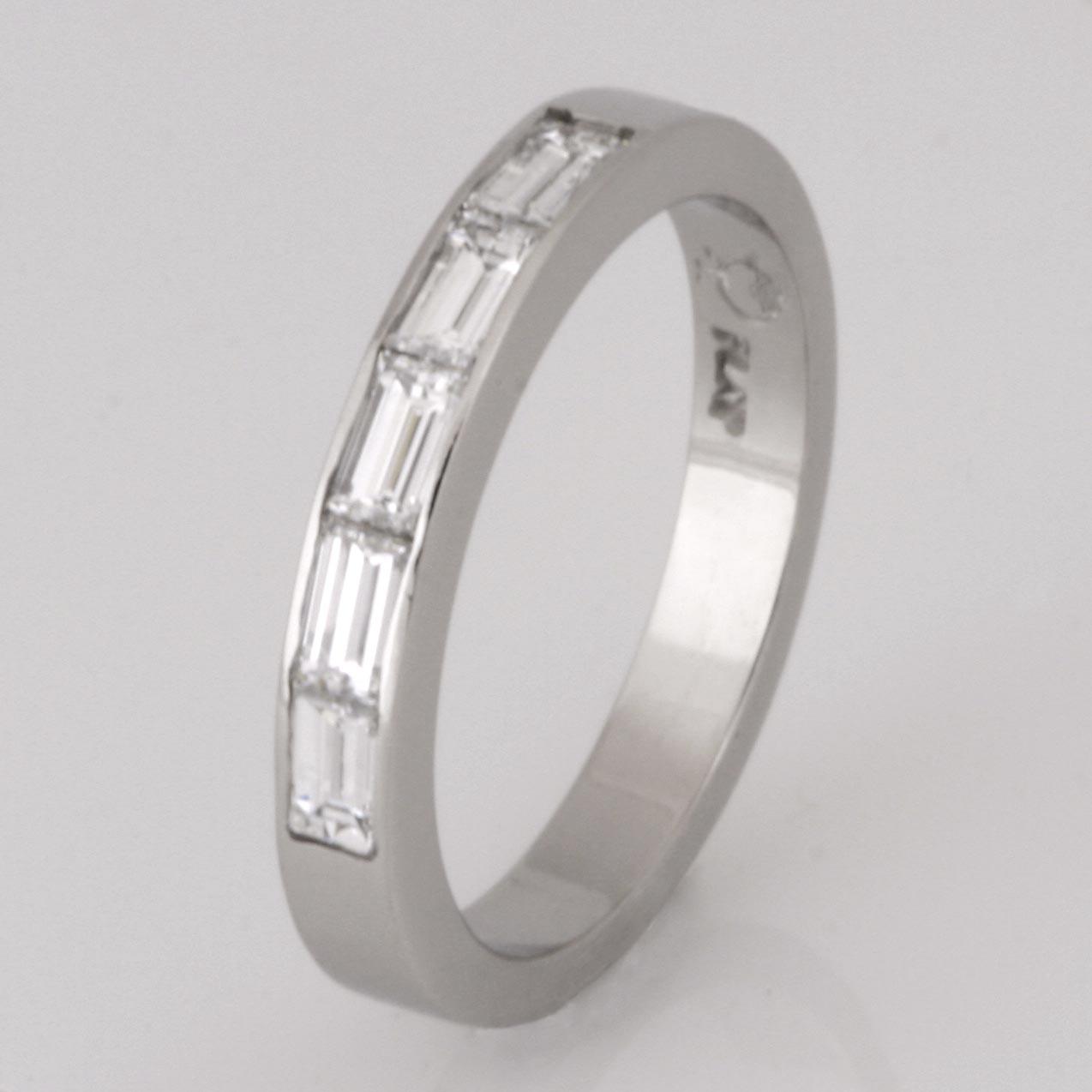 Handmade ladies diamond platinum wedding ring