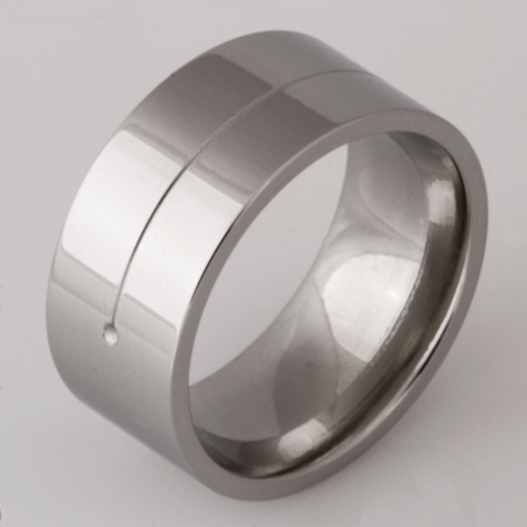 Gents stainless steel wedding ring