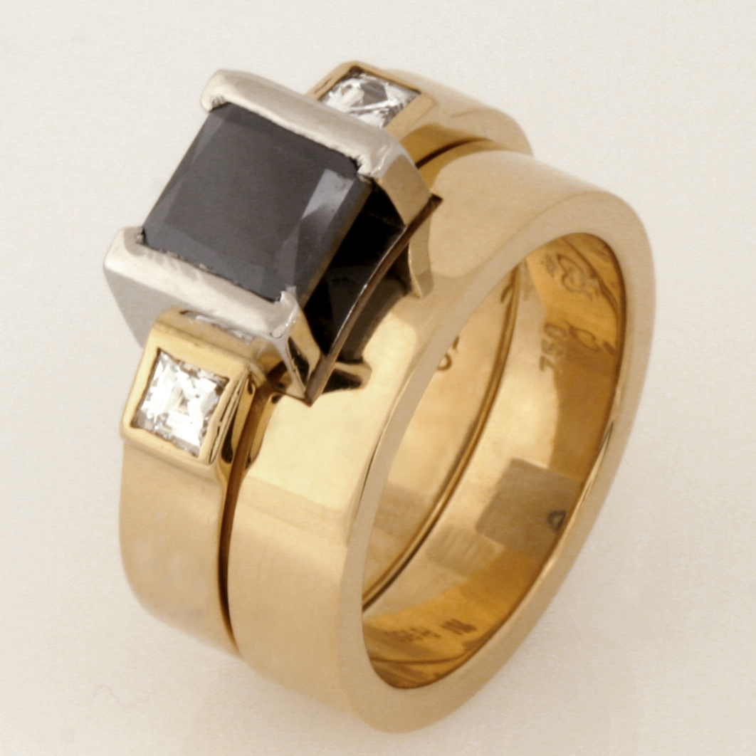 Handmade 18ct yellow gold ladies fitted wedding ring