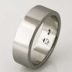 Handmade gents platinum wedding ring