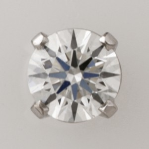 Handmade 18ct white gold gents 0.713ct EightStar diamond stud earring