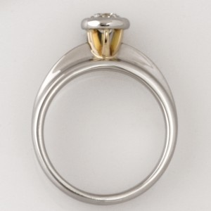 Handmade ladies palladium and 18ct yellow gold 'Asteios' diamond engagement ring