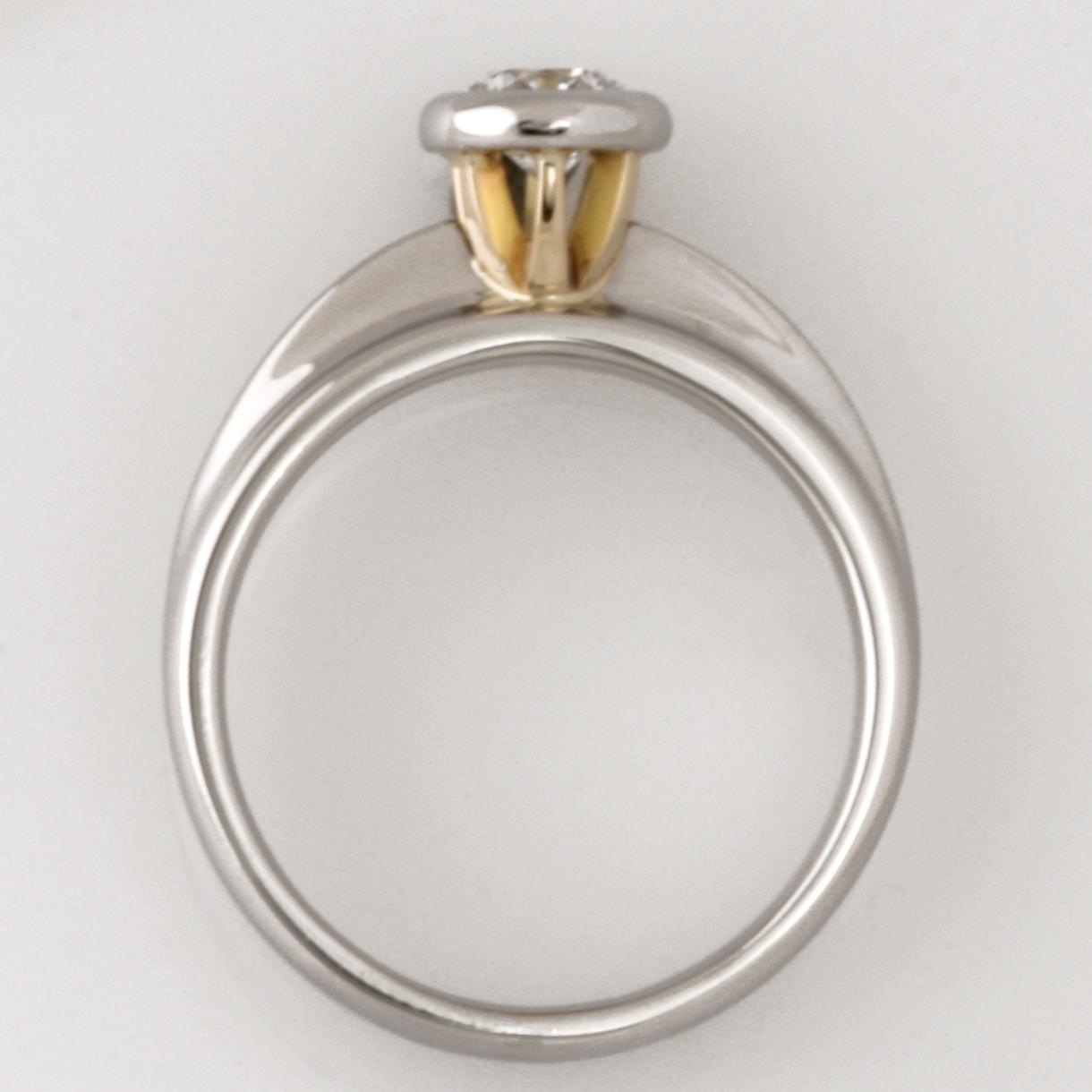 Handmade ladies palladium and 18ct yellow gold 'Asteios' diamond engagement ring