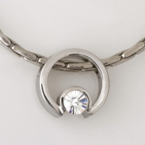 Handmade 18ct white gold 'Spirit' cut diamond pendant on a white gold chain