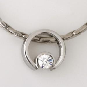 Handmade 18ct white gold 'Spirit' cut diamond pendant on a white gold chain