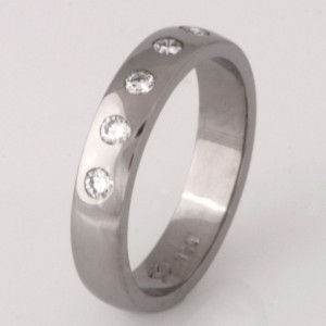 Handmade ladies 18ct white gold diamond eternity ring.