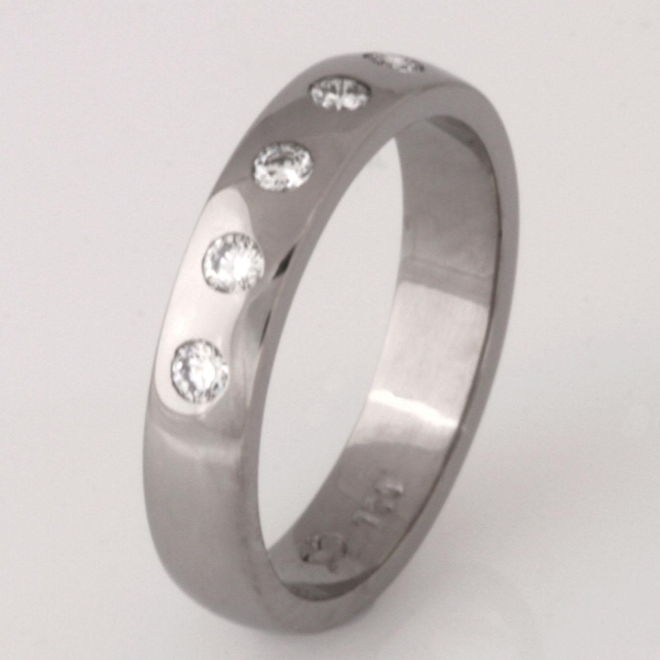 Handmade ladies 18ct white gold diamond eternity ring.