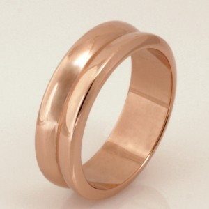Handmade 9ct rose gold gents wedding ring