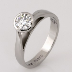 Handmade ladies palladium and platinum 'EightStar' diamond engagement ring