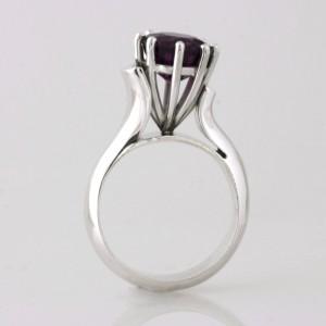 Handmade sterling silver garnet ladies ring