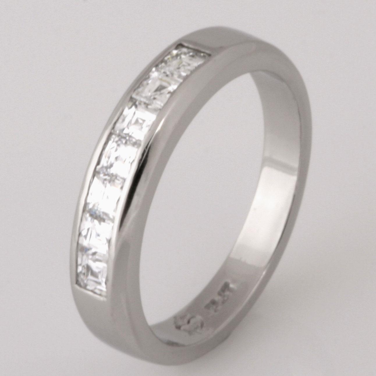 Handmade ladies platinum 'Tycoon' cut diamond wedding ring