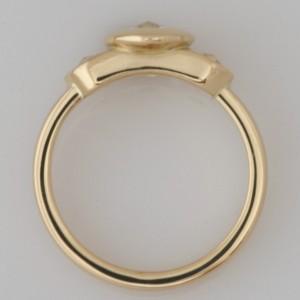Handmade ladies 18ct yellow gold 'Spirit' cut diamond ring
