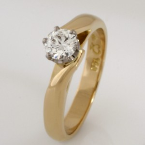 Handmade ladies 18ct yellow and white gold 'Eternity' diamond engagement ring