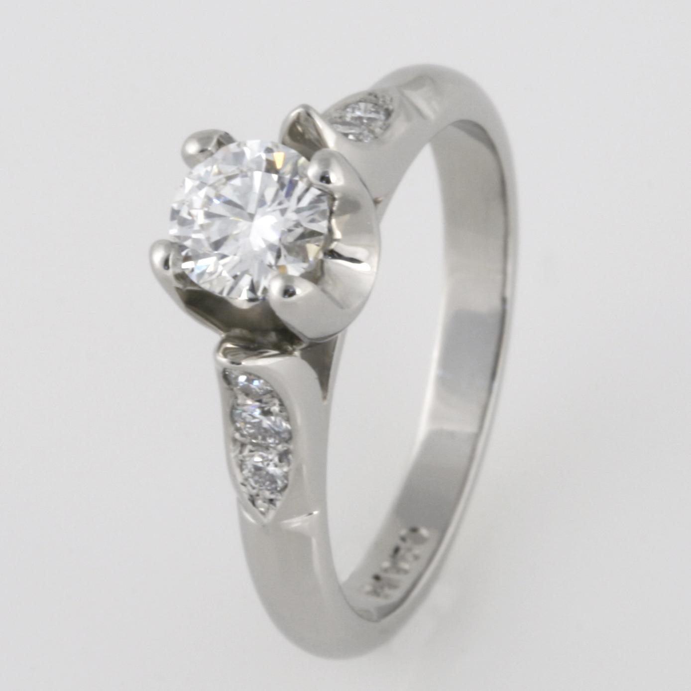 Handmade ladies palladium diamond engagement ring