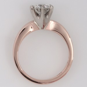 Handmade ladies 18ct rose gold diamond engagement ring