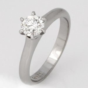 Handmade ladies palladium and platinum diamond engagement ring