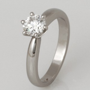 Handmade ladies platinum diamond engagement ring