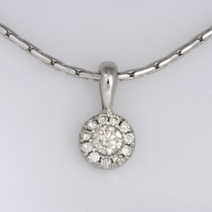 Handmade platinum and palladium diamond pendant