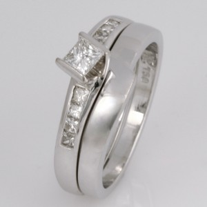 Handmade ladies 18ct white gold fitted wedding ring