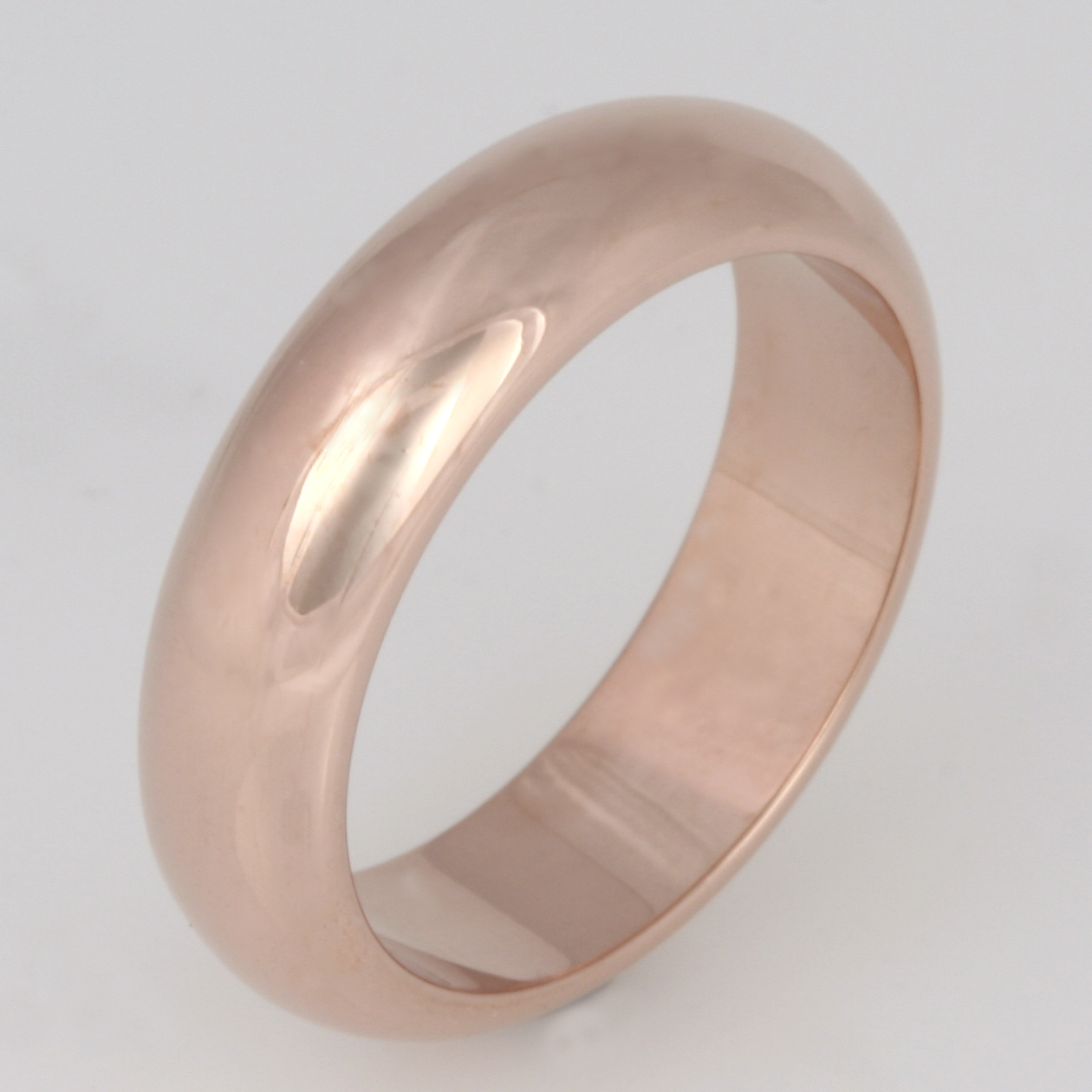 Handmade ladies 18ct rose gold wedding ring