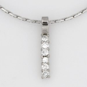 Handmade ladies 18ct and 14ct white gold diamond pendant