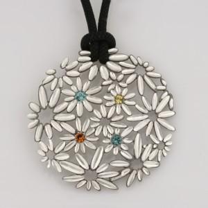 Sterling silver pendant featuring a Mali grossular garnet, Namibian tourmaline and orange spessartite garnet