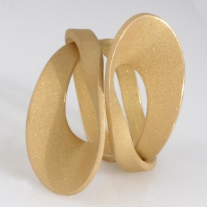 Ladies 14ct yellow gold ring made by SK