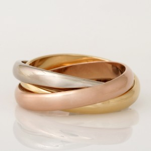 18ct rose, yellow and white gold ladies russian wedding ring