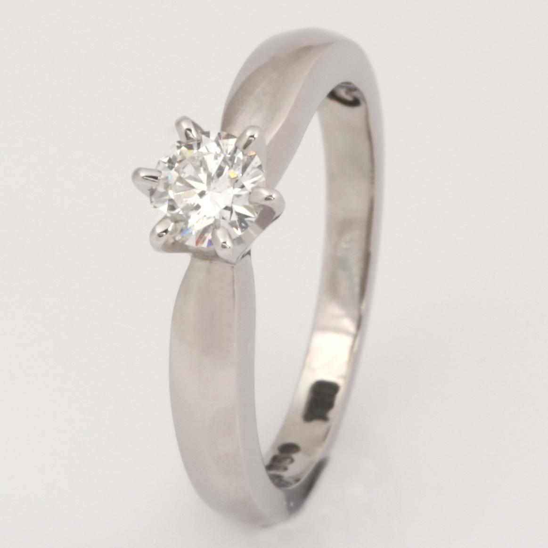 Handmade ladies palladium, 18ct white gold and platinum diamond engagement ring