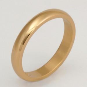 Handmade ladies 18ct yellow gold wedding ring