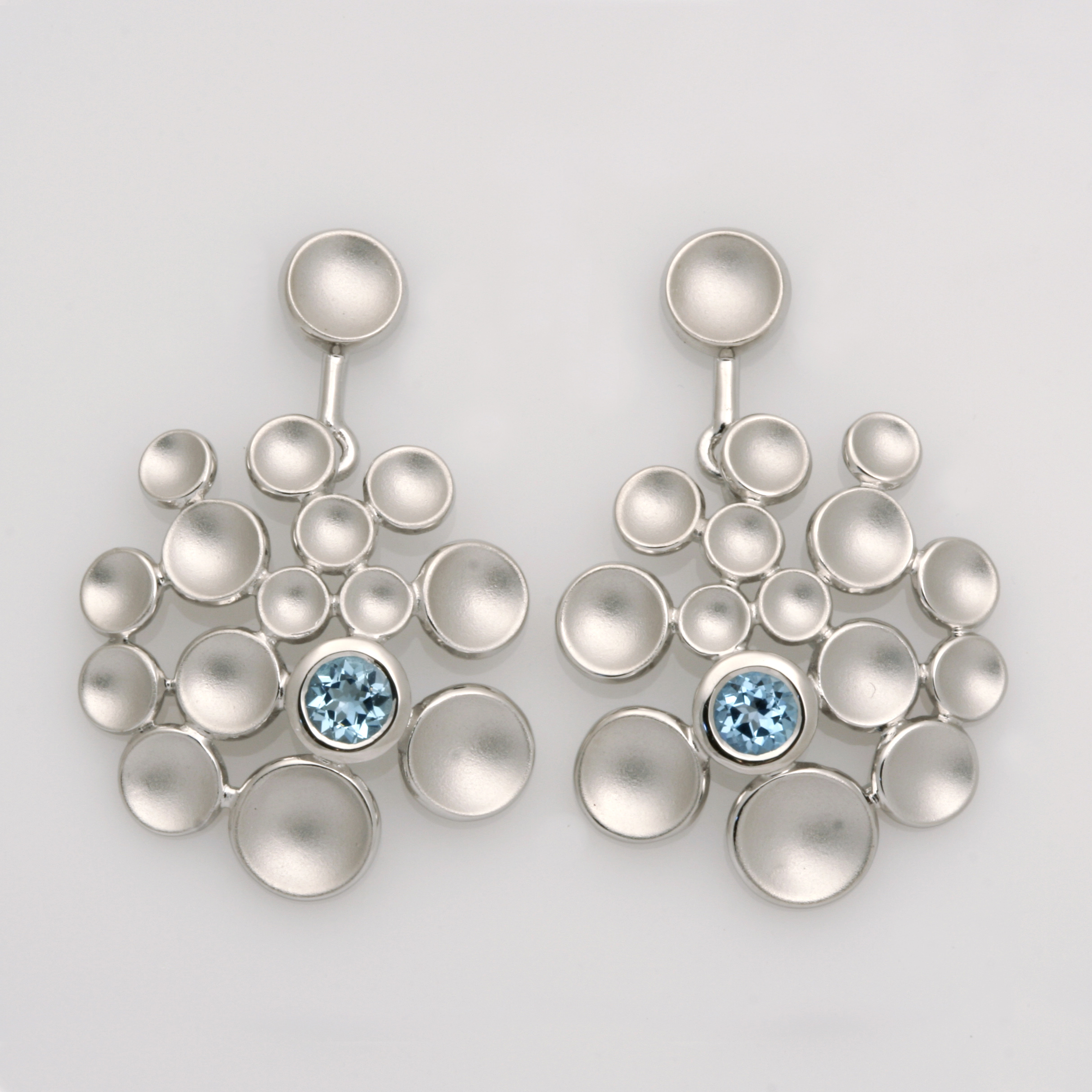 E0222 sterling silver and blue topaz earrings $295