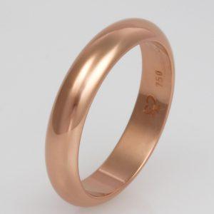 Mens handmade 18ct rose gold Wedding ring