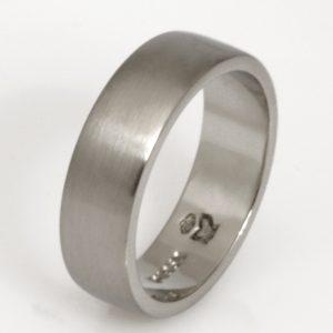 Handmade mens palladium Wedding ring