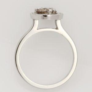Handmade Ladies platinum and chocolate diamond Engagement ring