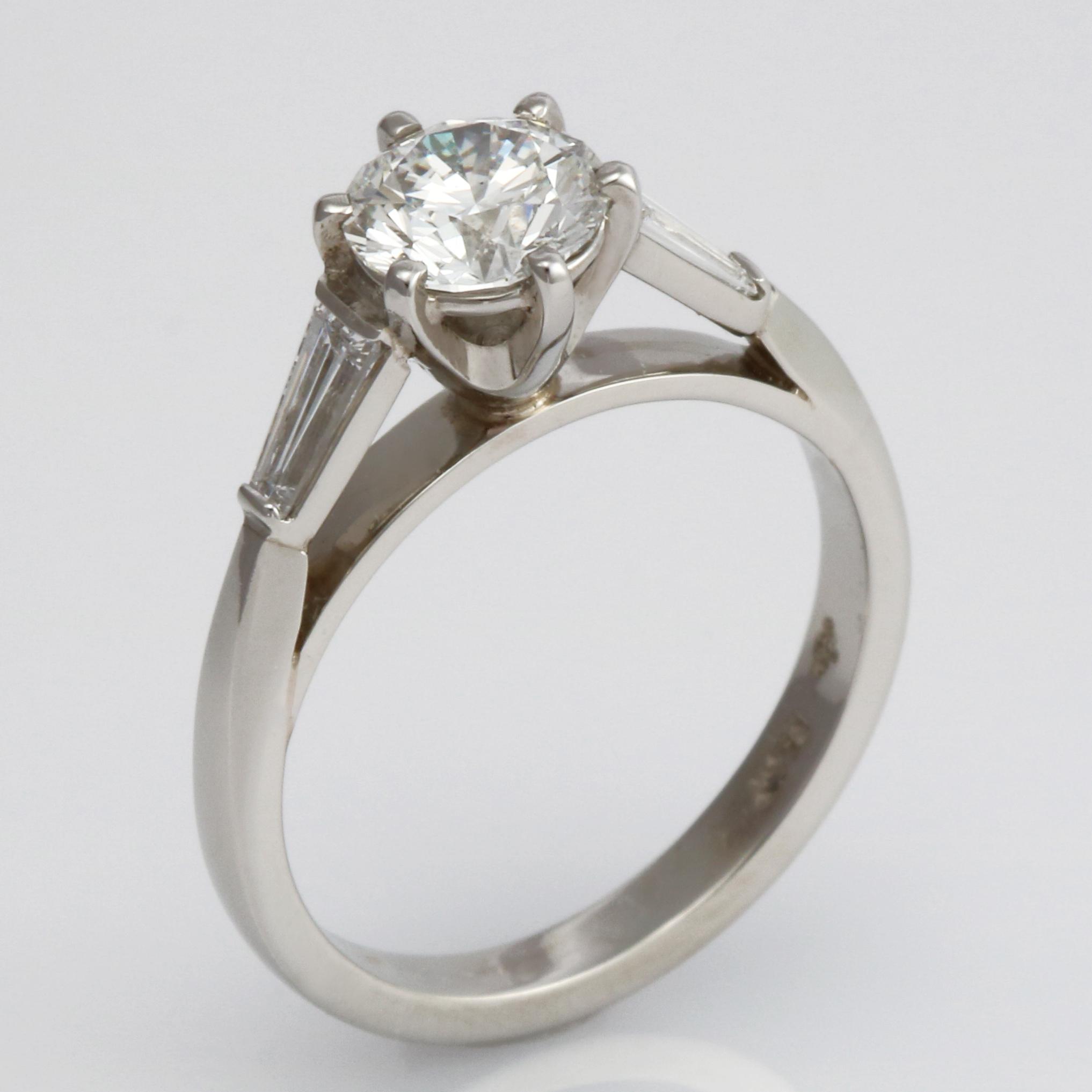 Handmade Platinum and Diamond Engagement ring