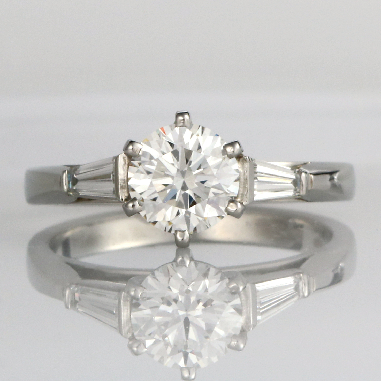 Handmade Platinum and Diamond Engagement ring