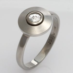 Handmade Palladium and 'Spirit' Diamond ring