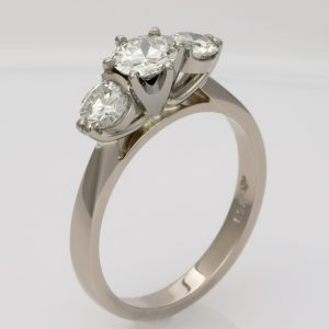 Handmade 18ct white gold and Diamond Engagement ring