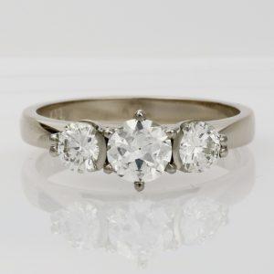 Handmade 18ct white gold and Diamond Engagement ring