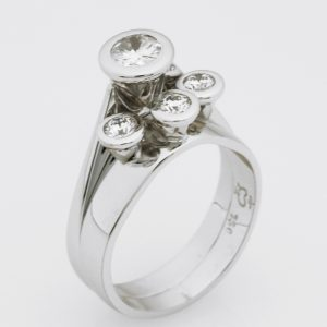 Ladies handmade 18ct White Gold and Diamond  Eternity ring.