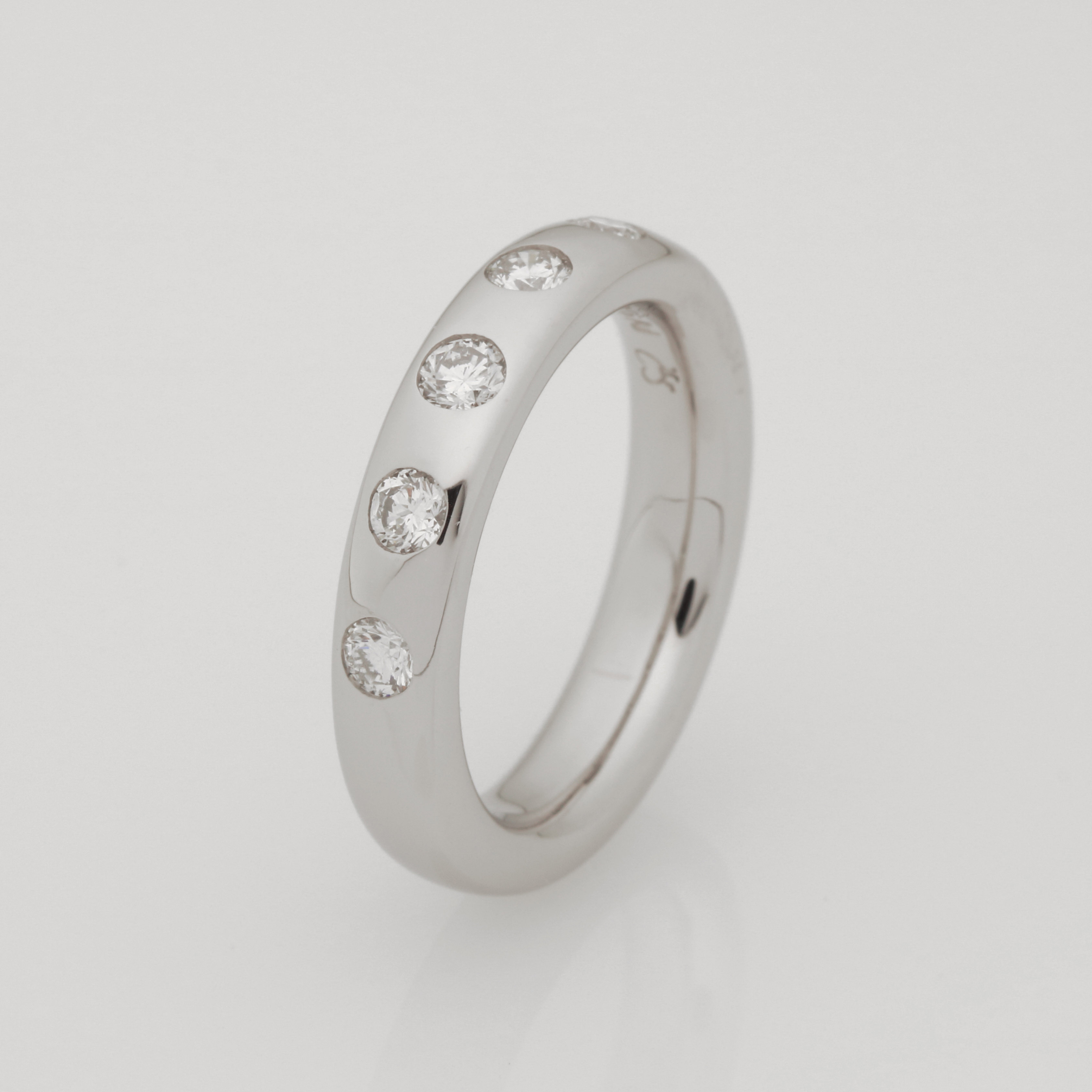 Ladies handmade palladium and diamond ring