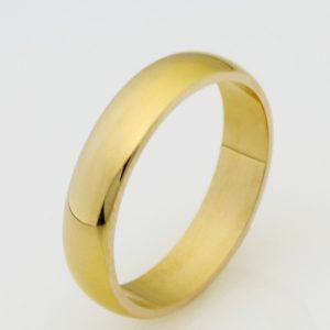 Ladies handmade 18ct yellow gold wedding ring