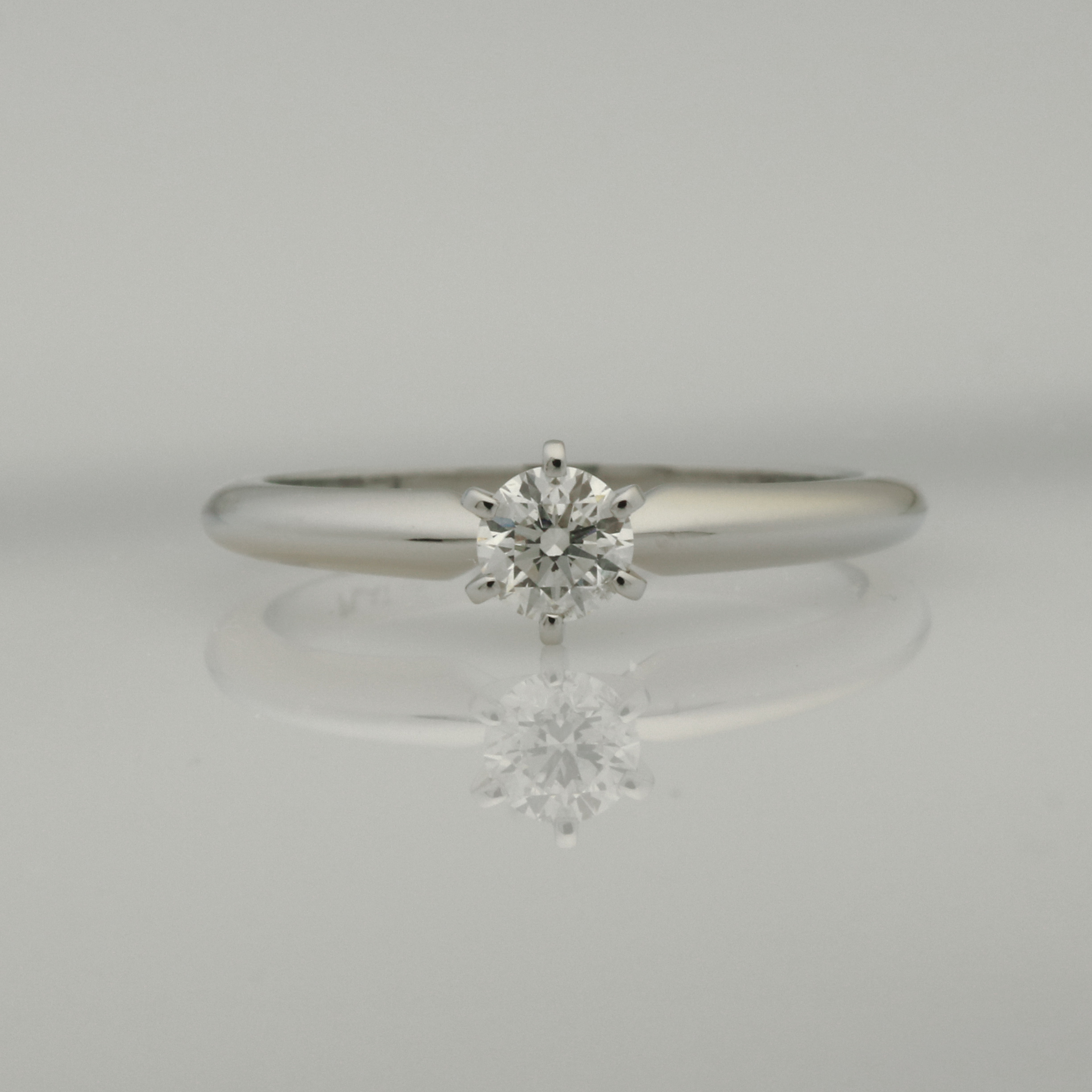 R175 Platinum engagement ring with 32pt G SI2 diamond in a 6 claw setting $2600