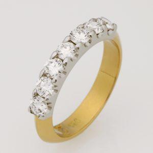18ct Yellow Gold & Platinum Diamond Wedding Ring
